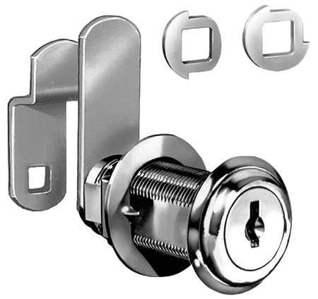 CompX C8060 14A C346A 1-3/4, Disc Tumb Cam Lock, Ka Bright Nickle, 25/bx CompX
