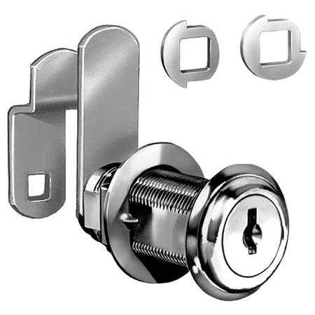 CompX C8060 14A C415A 1-3/4, Disc Tumb Cam Lock, Ka Bright Nickle, 25/bx CompX