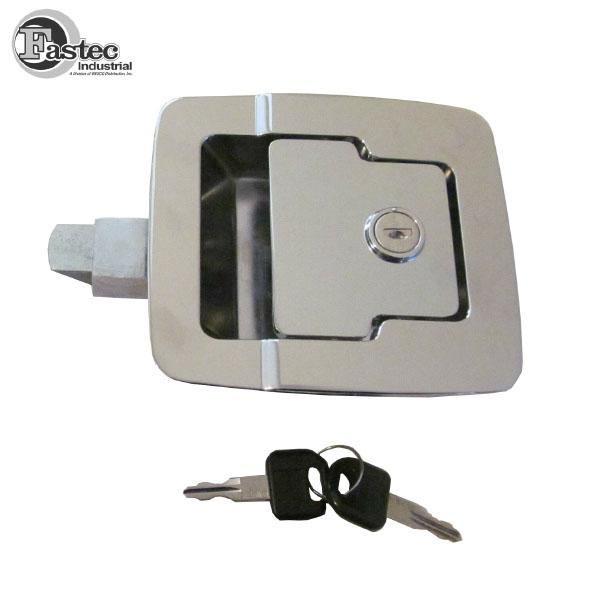 Fastec 30205 15 Baggage Door Lock Paddle Chrome, .625 Plunger Extension Fastec