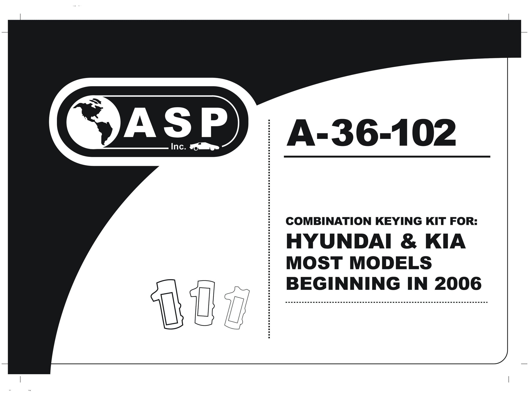Hyundai Keying Kit High Security - ASP A 36 102 ASP