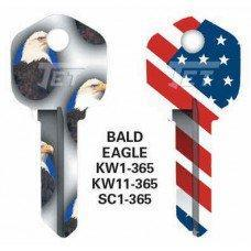 Jet Bald Eagle Keyblank JET