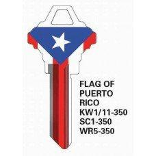 Jet Flag of Puerto Rico Keyblank JET