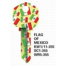Jet Mexican Flag Keyblank JET
