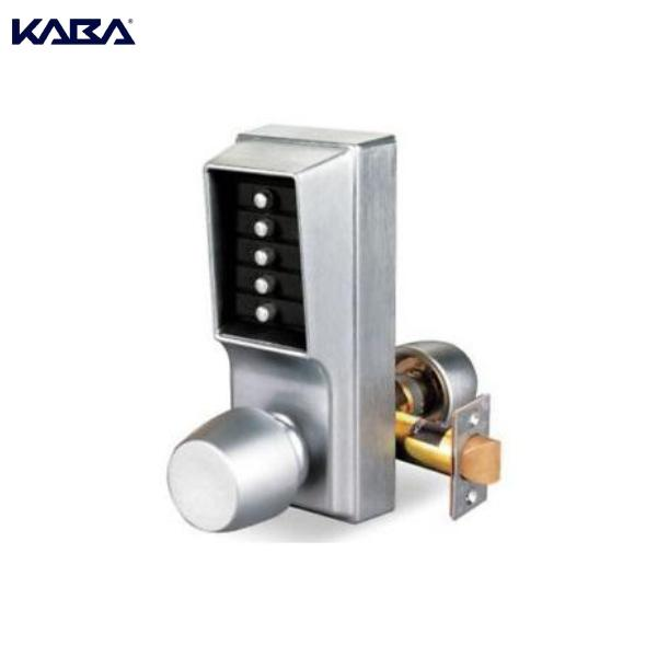 KABA SIMPLEX 1011-26D-41 MECHANICAL PUSHBUTTON LOCK WITH KNOB IN SATIN CHROME KABA