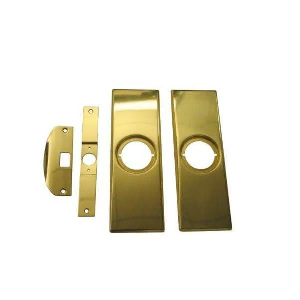 KWIKSET 215 3 CP Modern Kit, 3 3/8 X 7 1/4,cp Plates,latch And Strike Plates Kwikset