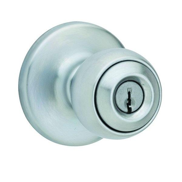 Kwikset 400P 26D 6AL RCS KI BBPKG 400P 26D Polo Keyed Entry Knob, Satin Chrome Kwikset