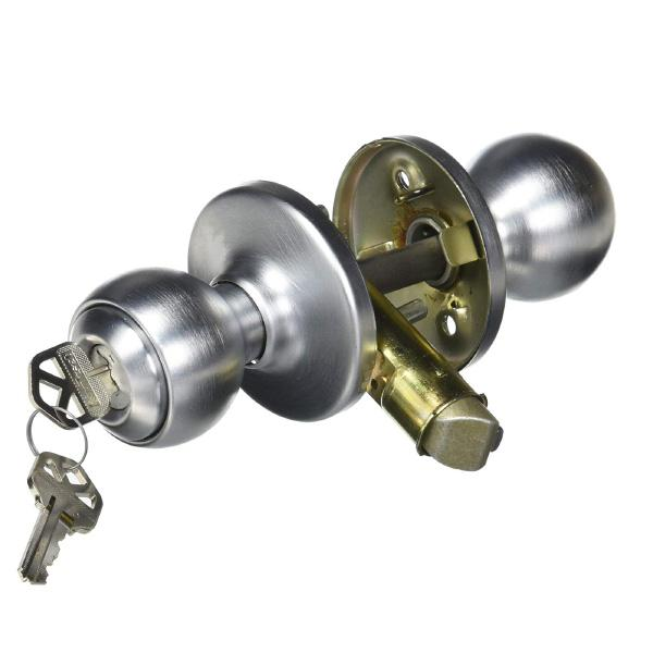Kwikset 450P-26D Polo Keyed Knob Satin Chrome Finish Kwikset