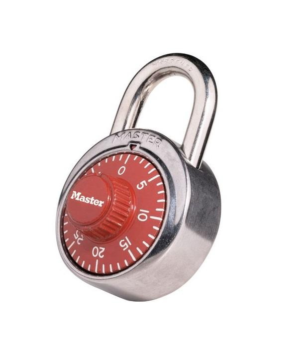 "MASTER LOCK 1504D 1-7/8"" Wide Combination Dial Padlock Master"