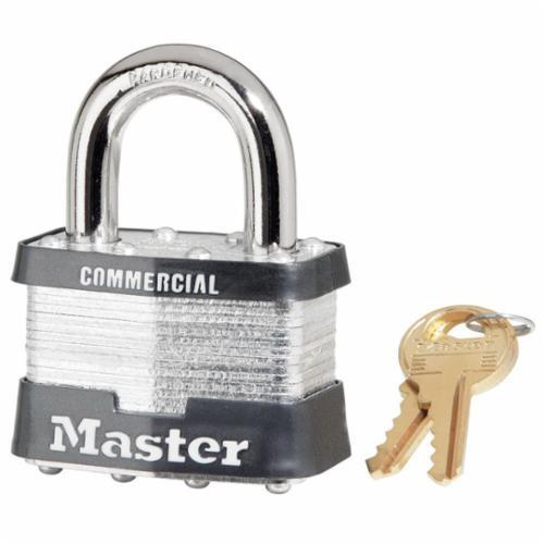 MASTER LOCK 5KA-2001 COMMERCIAL GRADE NON-REKEYABLE SAFETY PADLOCK - KEYED ALIKE - 3/8 IN SHACKLE - 4-PIN TUMBLER LOCKING Master