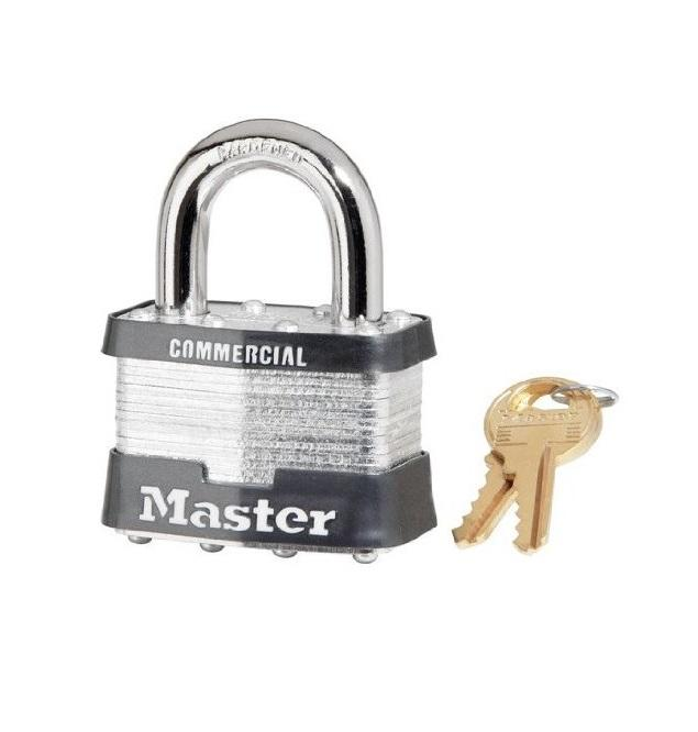 "Master Lock 5KA-A383 2"" Wide Keyed Alike Commercial Grade Laminated Padlock with 1"" Shackle Height Master"