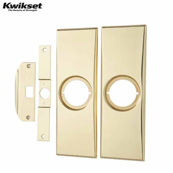 Modern Kit, 3 3/8 X 10 1/2 Plates,latch And Strike Plates - KWI 214 3 CP Kwikset