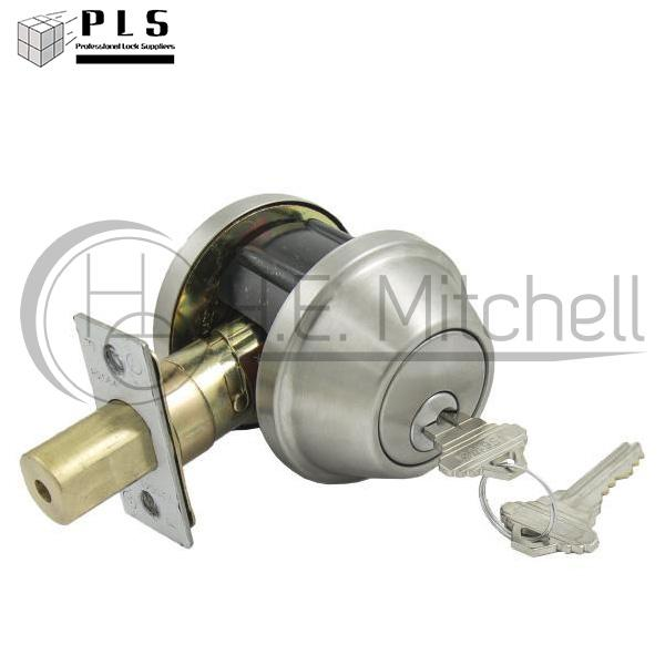PLS DB160SC 32D K5 Single Cylinder Deadbolt Us26d PLS