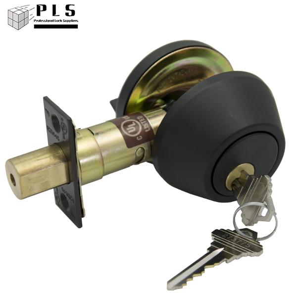 PLS DB260SC 10B KD Single Cyl Deadbolt, SCHLAGE C, Grade 2 Adj