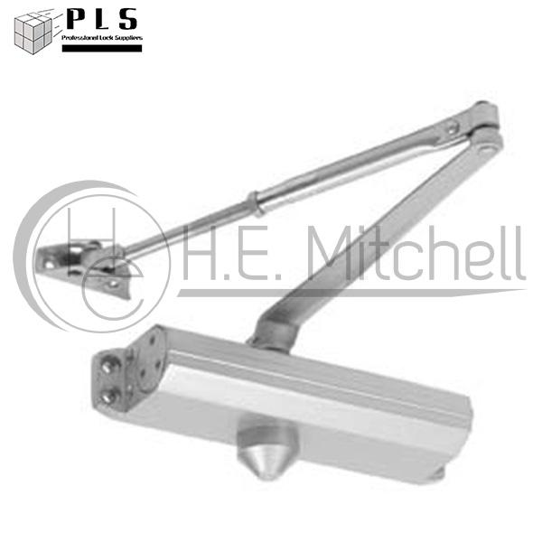 PLS DC1614 AL Door Closer, Adj 1-4, Alum PLS