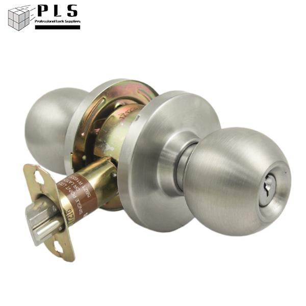 PLS K280 GRADE 2 CYLINDRICAL DOOR KNOB - STOREROOM - STAINLESS STEEL 32D