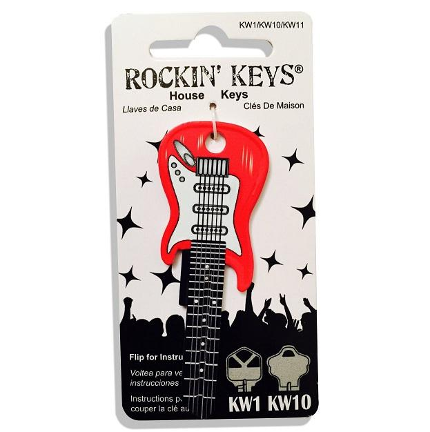 Rockin Keys Cherry Red Electric Guitar Shaped Rockin' Key Rockin Keys
