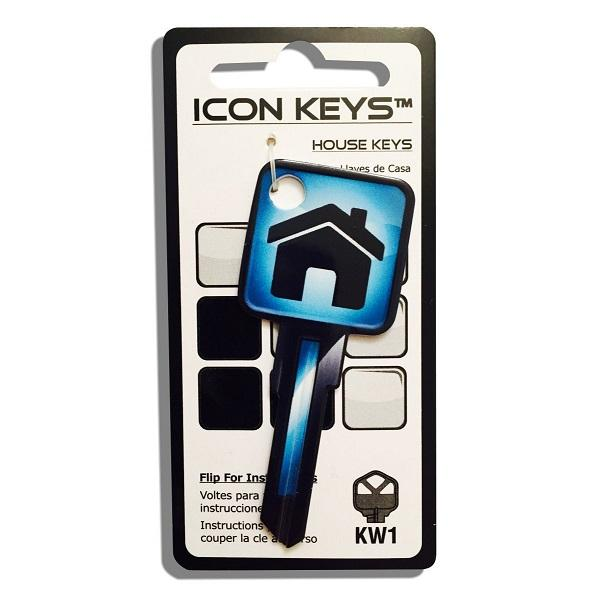 Rockin Keys Kw11 Blue House Icon Key - ROC 9668 Rockin Keys