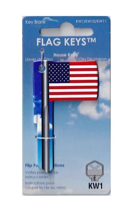 Rockin Keys USA Flag Shaped Key Rockin Keys