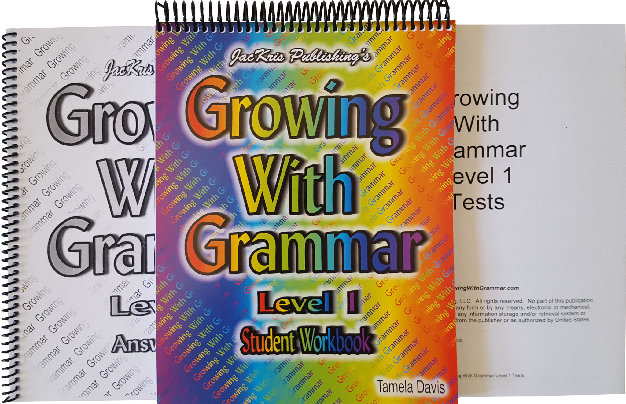 Growing With Grammar- Levels 1-8 – JacKris Publishing