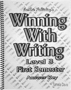 Winning With Writing, Level 3, First Semester Answer Key