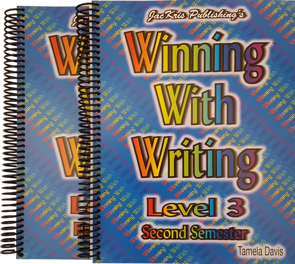 Winning With Writing, Level 3, First and Second Semester Workbooks
