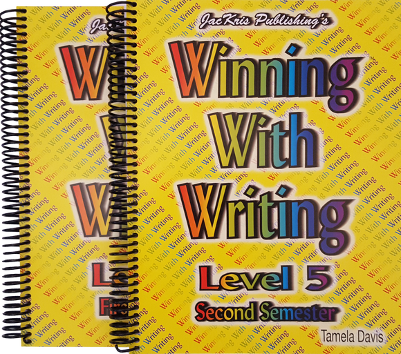 Winning With Writing, Level 5, First and Second Semester Workbooks