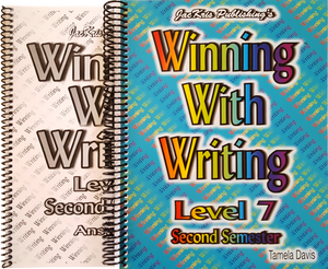 Winning With Writing, Level 7, Second Semester Workbook and Answer Key