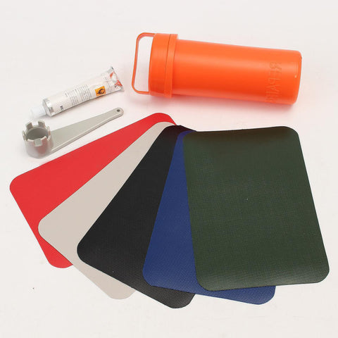 New 1 Set Inflatable Plastic Boat Kayak Special Repair Kit Container Bucket Dinghy Rib Canoe Waterproof PVC Patch
