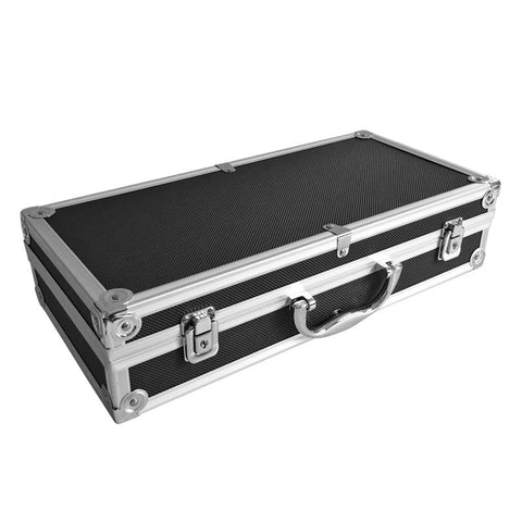 "16"" Aluminum Locking Foamed Tactical Pistol Handgun Case Carrying Storage Box for Hunting Airsoft"