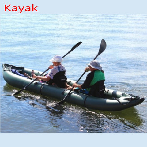 High quality 0.9mm PVC inflatable rubber canoe kayak for two person