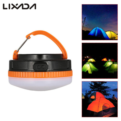 Waterproof Outdoor 200LM Hiking Camping LED Night Light Portable 4 Modes LED Lantern Tent Lamp 1200mA Built-in Battery Operated
