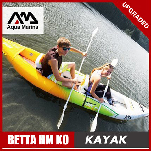 Aqua Marina inflatable boat fishing sport kayak canoe Betta HM pvc dinghy raft aluminium paddle pump seat drop-stitch laminated