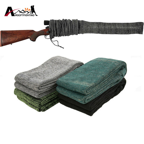 "54"" Silicone Treated Gun Sock Polyester Rifle Shotgun Fishing Rod Sock Protection Cover Bag Case Tactical Hunting caza"
