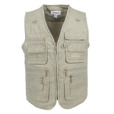 Men Vest With Many Pockets Mens Vests Plus Large Size 10XL Man Sleeveless Jacket Waistcoat Work Vest Clothes
