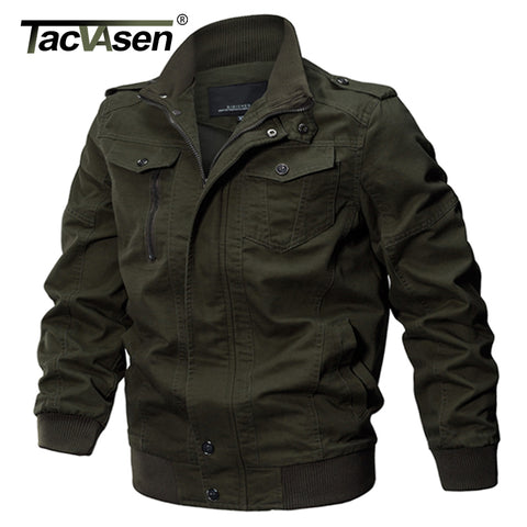 TACVASEN Military Jacket Men Winter Cotton Jacket Coat Army Men's Pilot Jackets Air Force Spring Cargo Jaqueta TD-QZQQ-009