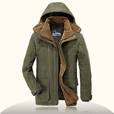 Plus size 6XL Brand parka men Winter jacket men warm thick fleece branded military jacket Cotton-Padded Jacket mens  parka coat