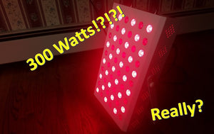 What are the Actual Watts of my LEDs in my Red Light Therapy Panel?