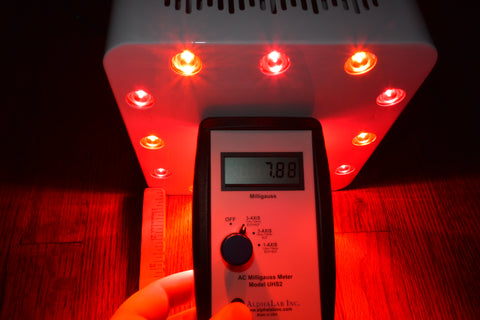 EMF COB Red Light Therapy Measurement