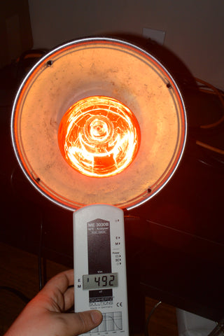Heat Lamp Electric Field EMF not grounded