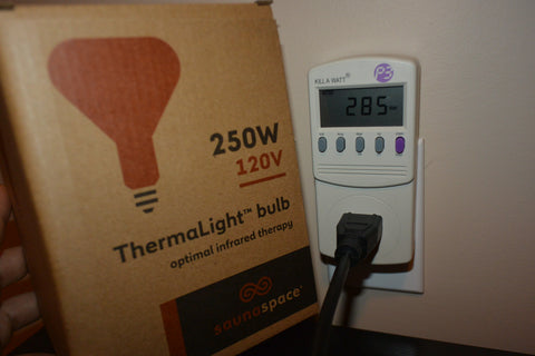 SaunaSpace Thermalight Power Consumption