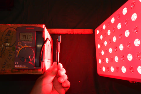 Measuring Irradiance Intensity Light Meter Red Light Therapy