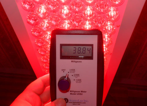 EMF Meter Red Light Therapy Measurement