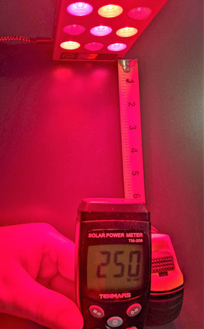 Solar Power Meter Red Light Therapy Panel Measurement
