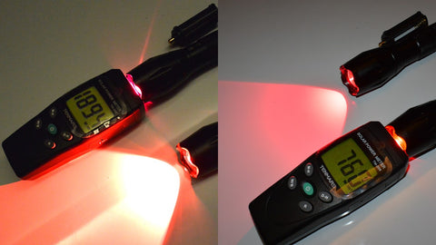 red light therapy flashlight intensity tenmars solar power meter