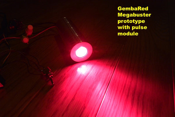 GembaRed MegaBuster Prototype high intensity pulsed red light therapy