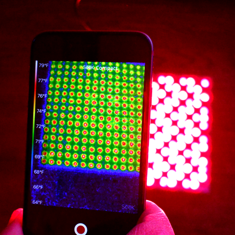 heat generated by led panel red light therapy