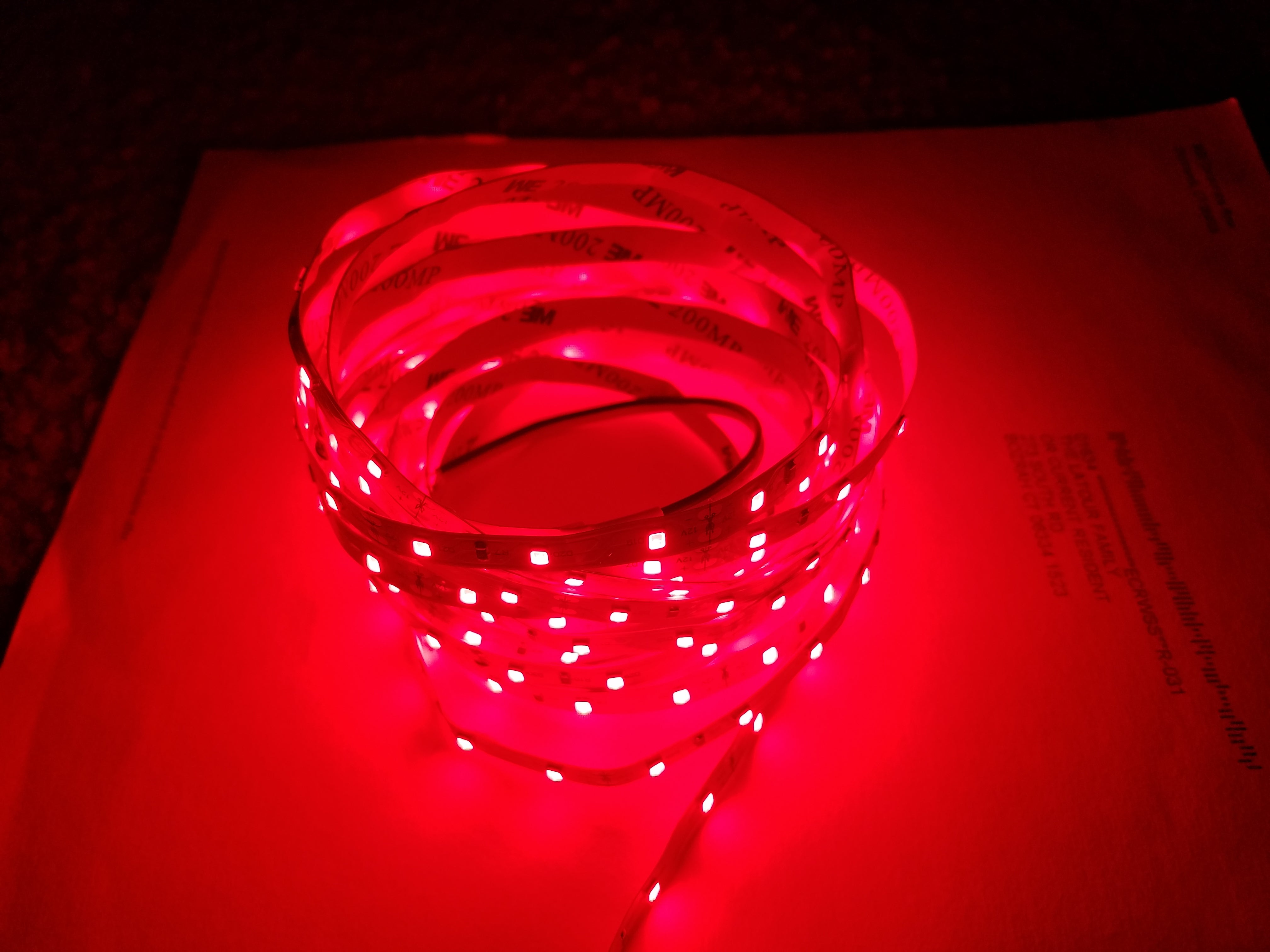 GembaRed Wheel Red 660nm 12 volt LED Strip Light