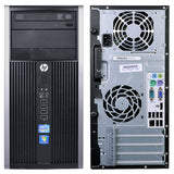 HP Pro 6200 Microtower PC, Intel Quad-Core i5-2500 3.3GHz, Win 10 Pro