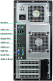 Dell OptiPlex 9020 Tower PC, Intel Quad Core i5-4590 3.3 GHz Processor, Windows 10 Pro