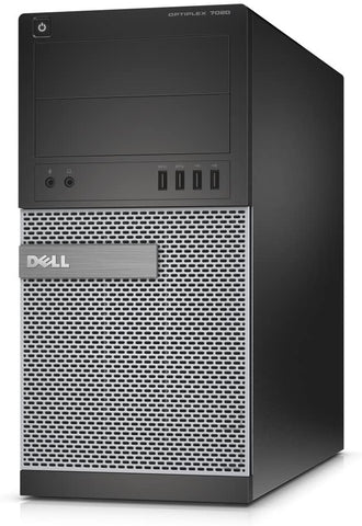 Dell Optiplex 7020 Tower, Intel Quad Core i5-4590 3.30 GHz Processor, Windows 10 Pro
